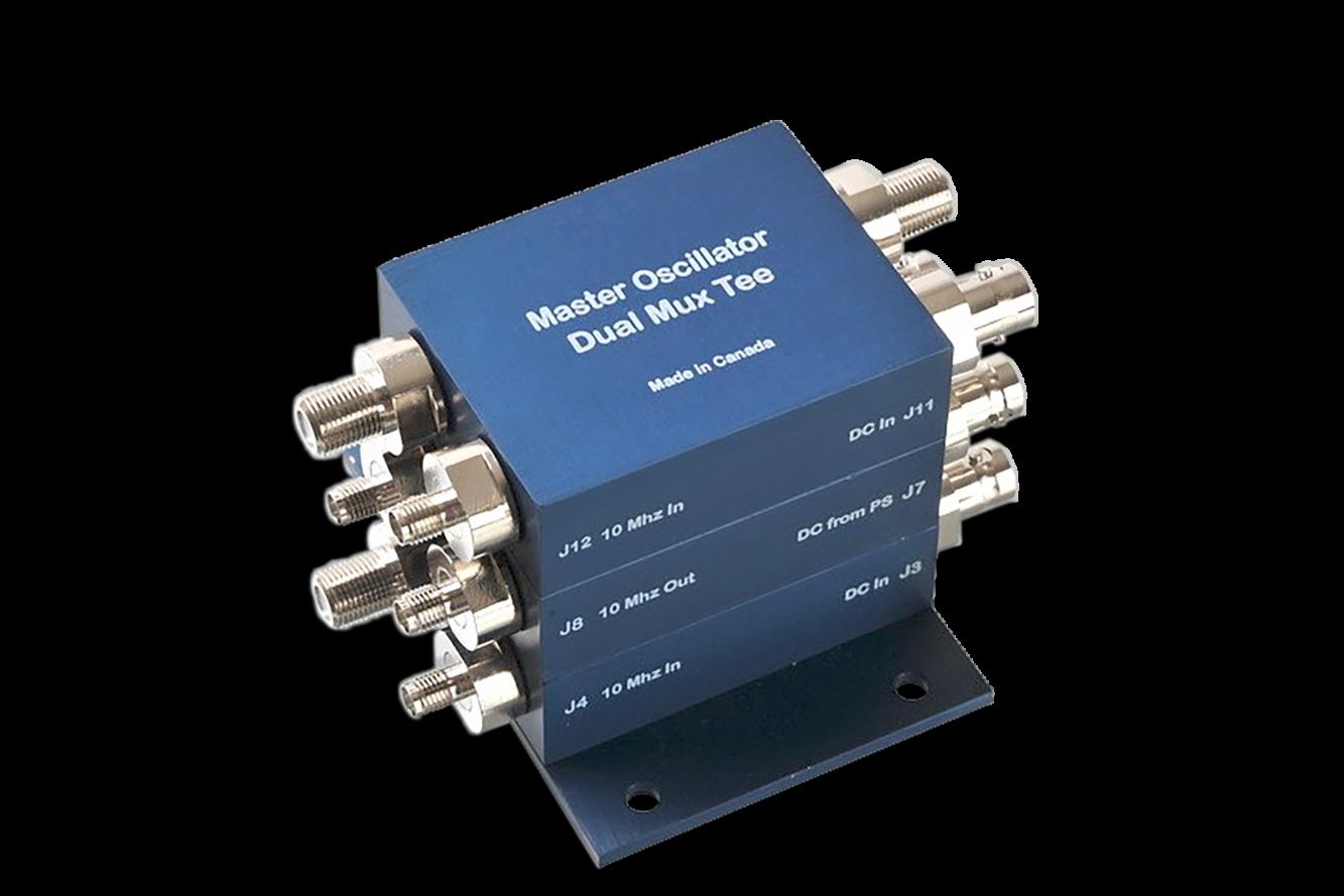 Satellite Communication Master Oscillator with Dual Mux Tee